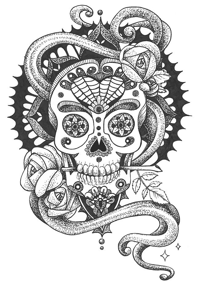 Sugar skull - Pen