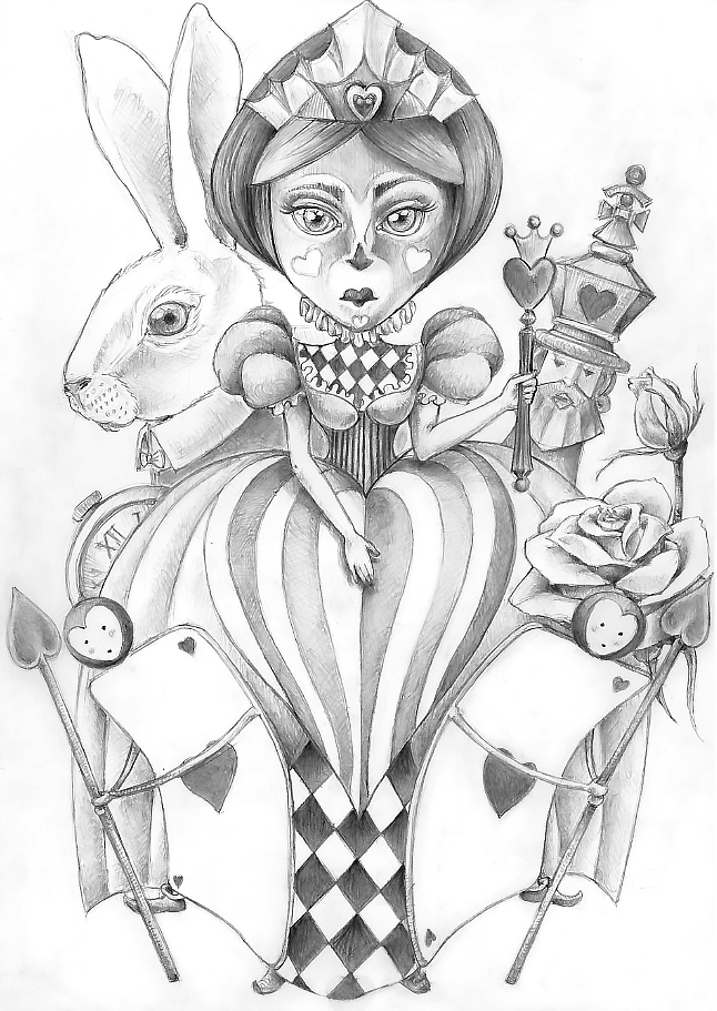 Queen of Hearth and Co - Pencil