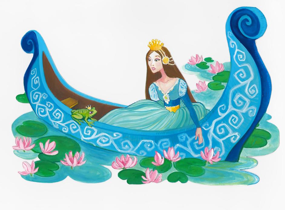 Princess Frog - Gouache