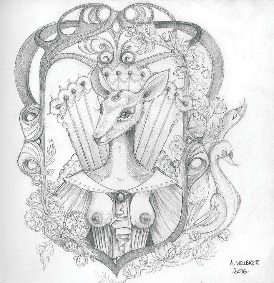 The ivory doe - Pencil