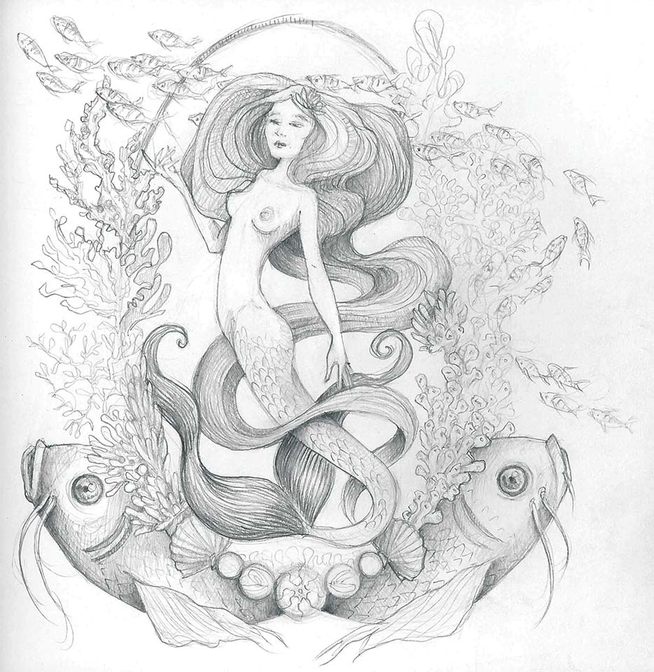 Mermaid - Pencil