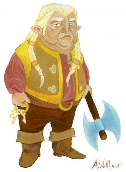 Dwarf - Gouache