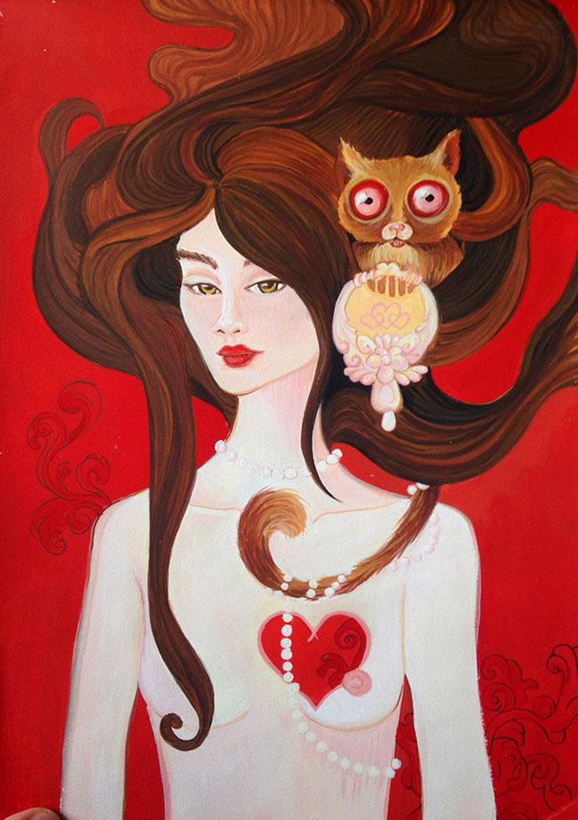 The Heartless Lady - Gouache